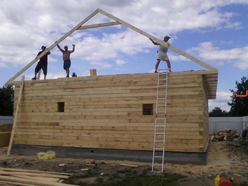 Крыша для бани из бруса своими руками